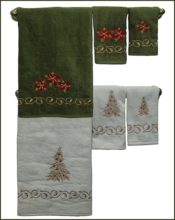 Christmas Bathroom towels. Christmas Bathroom Decor Ideas