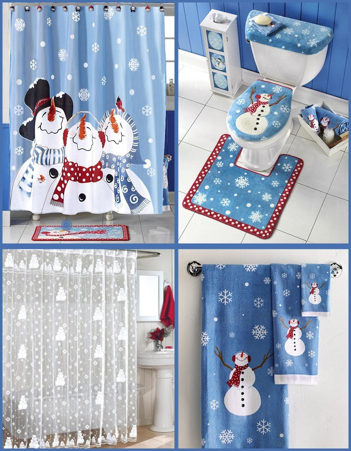 snowman christmas bathroom decor