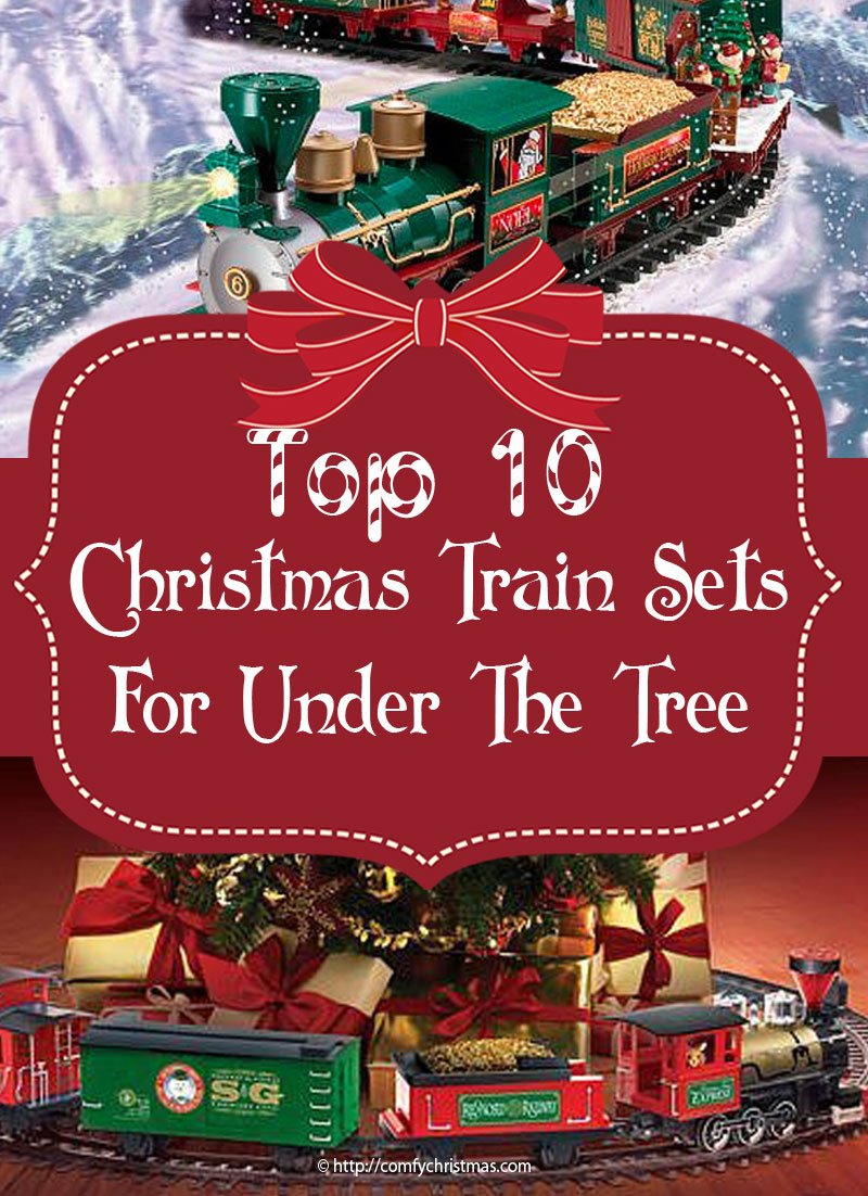 top 10 best christmas train sets for under the tree - Santa Train Outdoor Christmas Decoration