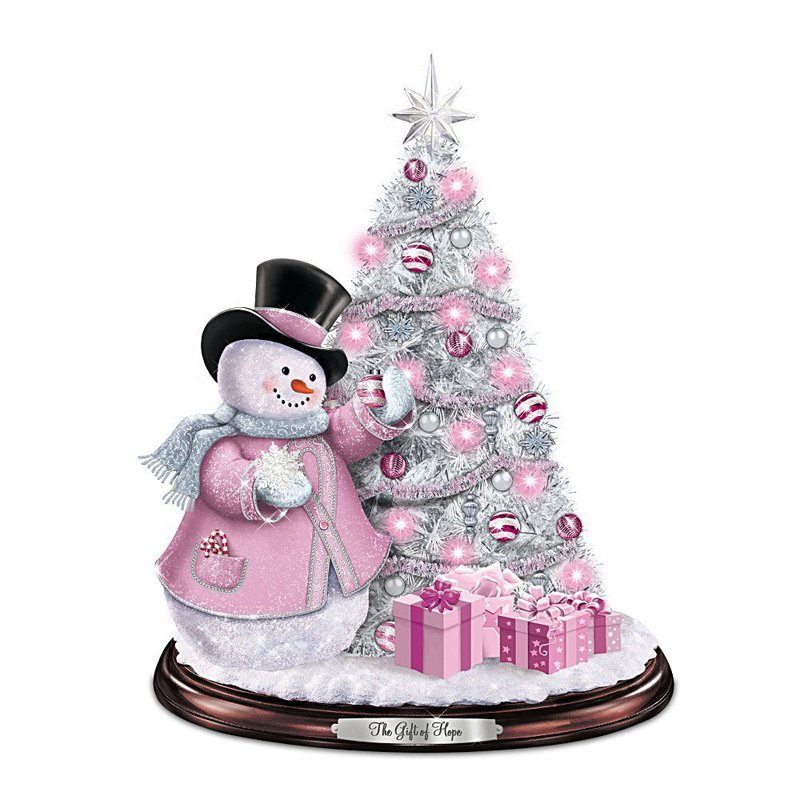 a gift of hope light pink christmas ornament