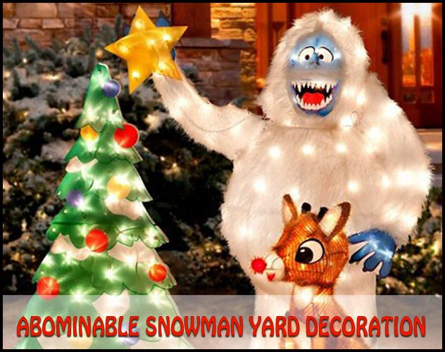 Bumble abominable snowman yard decoration for Abominable snowman christmas light decoration