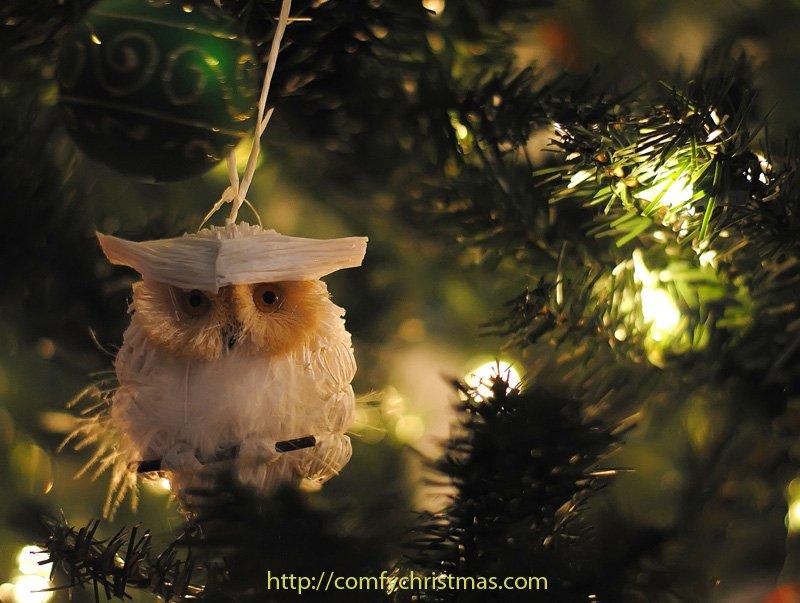 Owl Christmas Ornament Part - 45: Snowy Owl Christmas Ornaments
