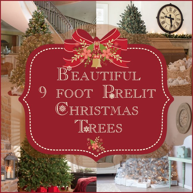 9 foot Prelit Christmas Tree • Comfy Christmas