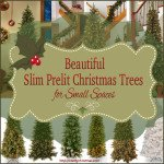 Slim Prelit Christmas Tree for Small Spaces