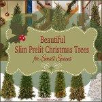 Slim Prelit Christmas Tree for Small Spaces