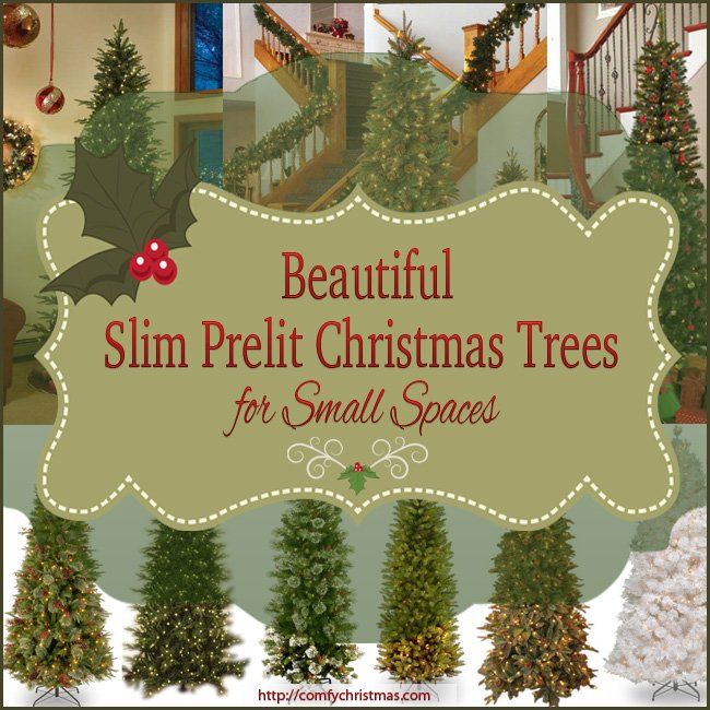 slim prelit christmas tree - Pre Lighted Christmas Trees