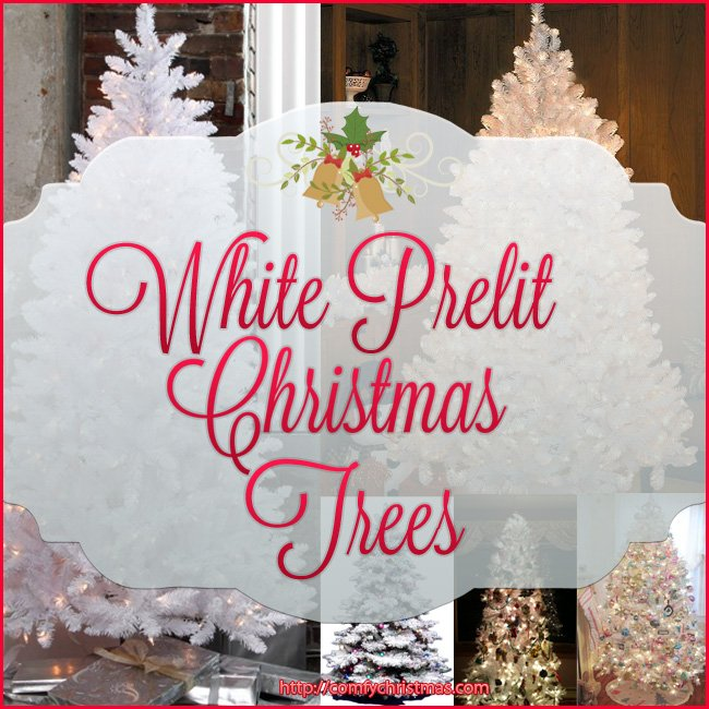 white prelit christmas tree