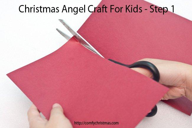 Christmas Angel Craft For Kids - Step 1