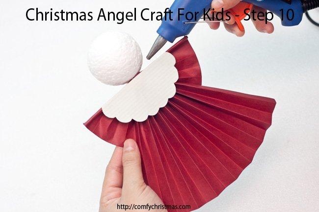 Christmas Angel Craft For Kids - Step 10