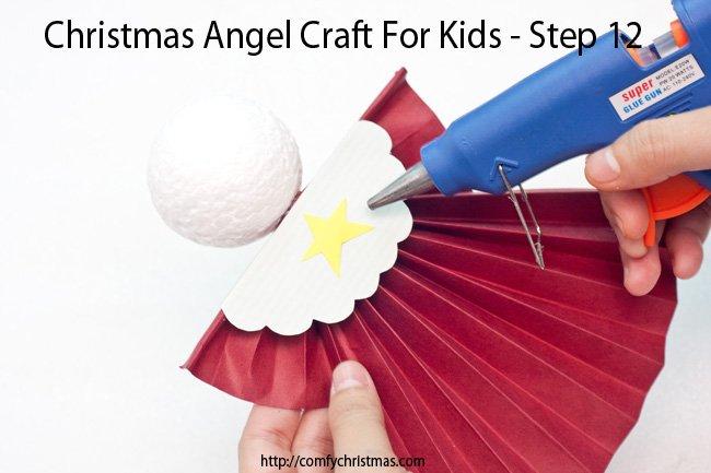 Christmas Angel Craft For Kids - Step 12