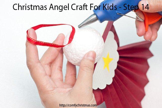 Christmas Angel Craft For Kids - Step 14