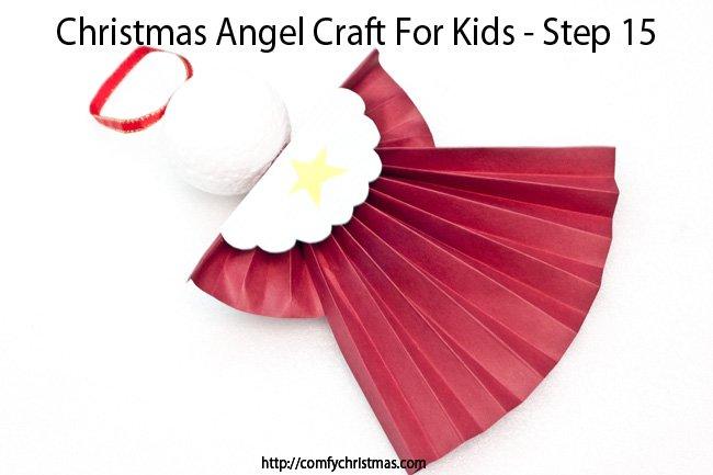 Christmas Angel Craft For Kids - Step 15
