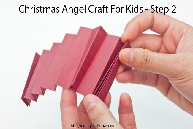 Christmas Angel Craft For Kids - Step 2