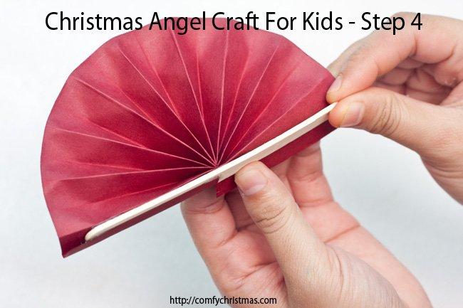 Christmas Angel Craft For Kids - Step 4