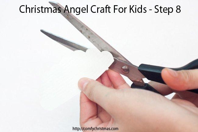 Christmas Angel Craft For Kids - Step 8