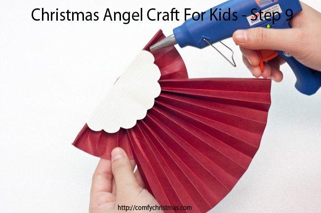 Christmas Angel Craft For Kids - Step 9