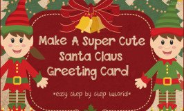 How to Make 3D Santa Claus Greeting Cards