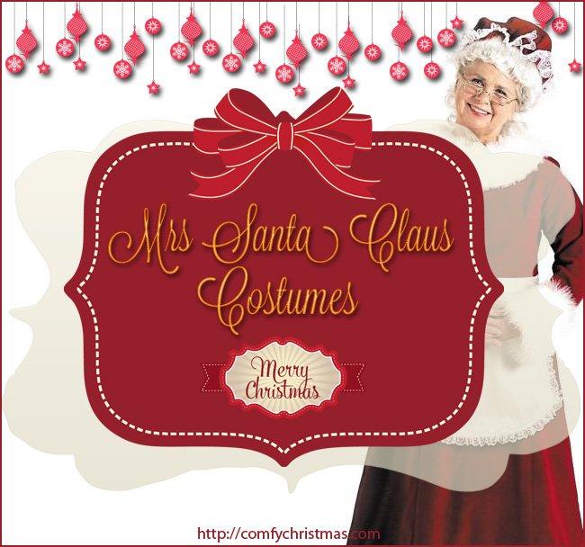 Mrs Santa Claus Costume Comfy Christmas