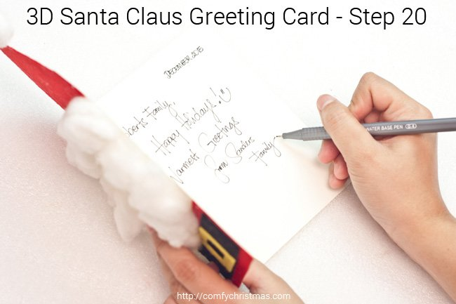 Santa Claus Greeting Card - Step 20