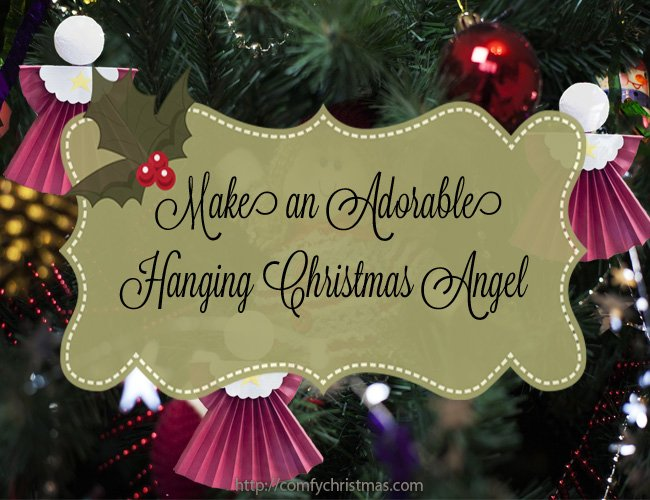 adorable Christmas angel craft for kids