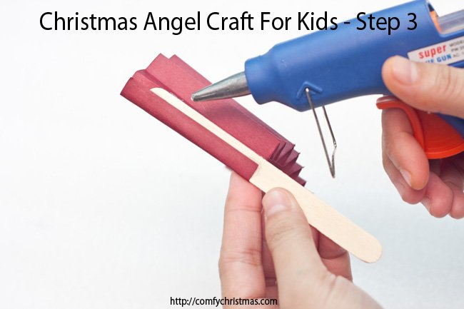 Christmas Angel Craft For Kids - Step 3