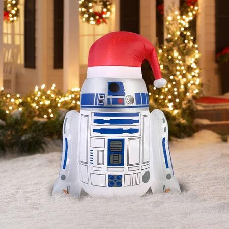c 3po and r2 d2 star wars inflatable christmas decorations - R2d2 Christmas Lights