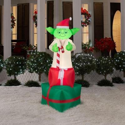 yoda star wars inflatable christmas decorations - Blow Up Christmas Decorations