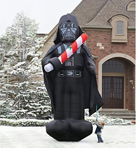 darth vader star wars inflatable christmas decorations - Star Wars Blow Up Christmas Decorations