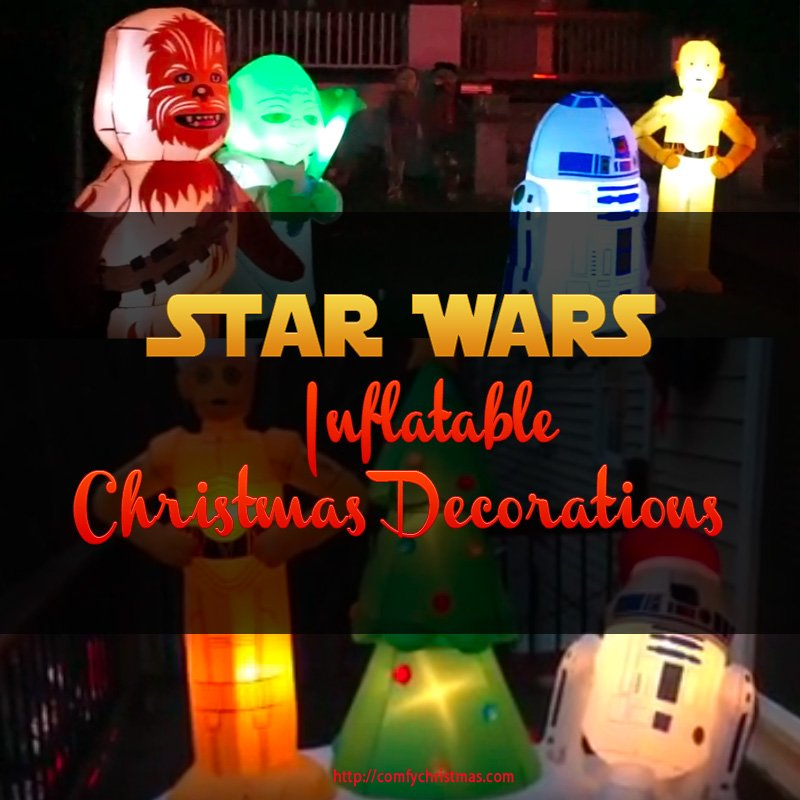 Star wars inflatable christmas decorations comfy christmas for Star wars dekoration
