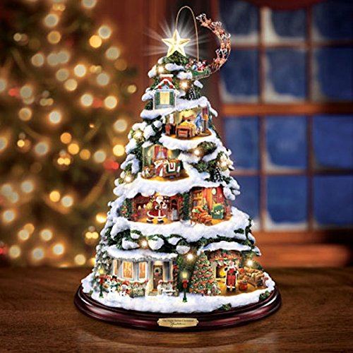 thomas kinkade christmas trees  u2022 comfy christmas