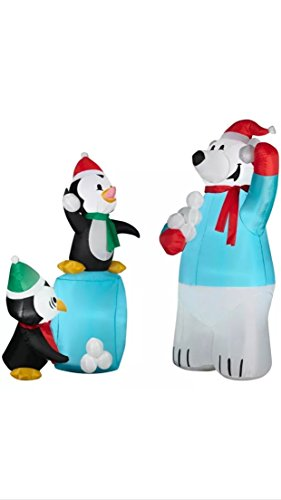 need a little help with your holiday spirit this year this polar bear - Polar Bear Inflatable Christmas Decorations