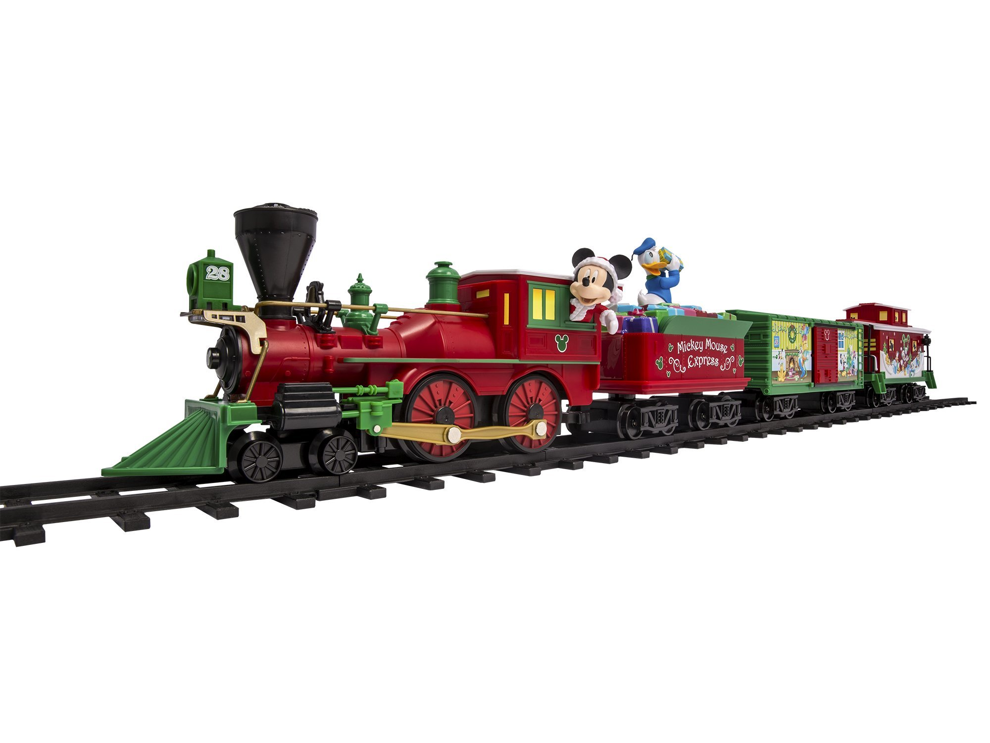 2940092b5 This Mickey Mouse Christmas train set really has the Christmas feel to it  along with great quality and bright vivid colors.