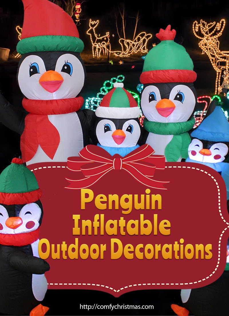 Penguin Inflatable Outdoor Decorations