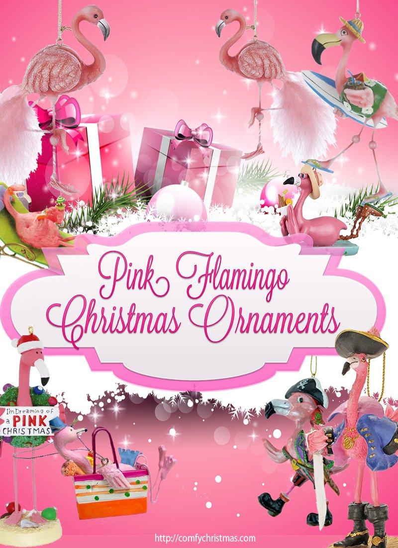 Pink Flamingo Tree Ornaments
