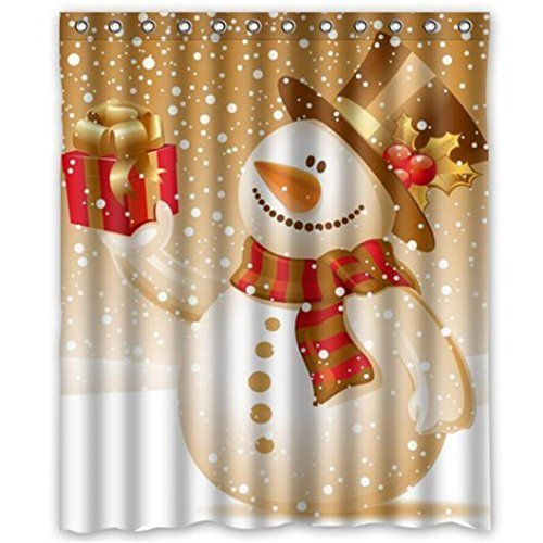 snowman shower curtain sets by ambesonne