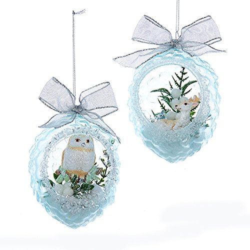 kurt adler owl christmas tree decorations