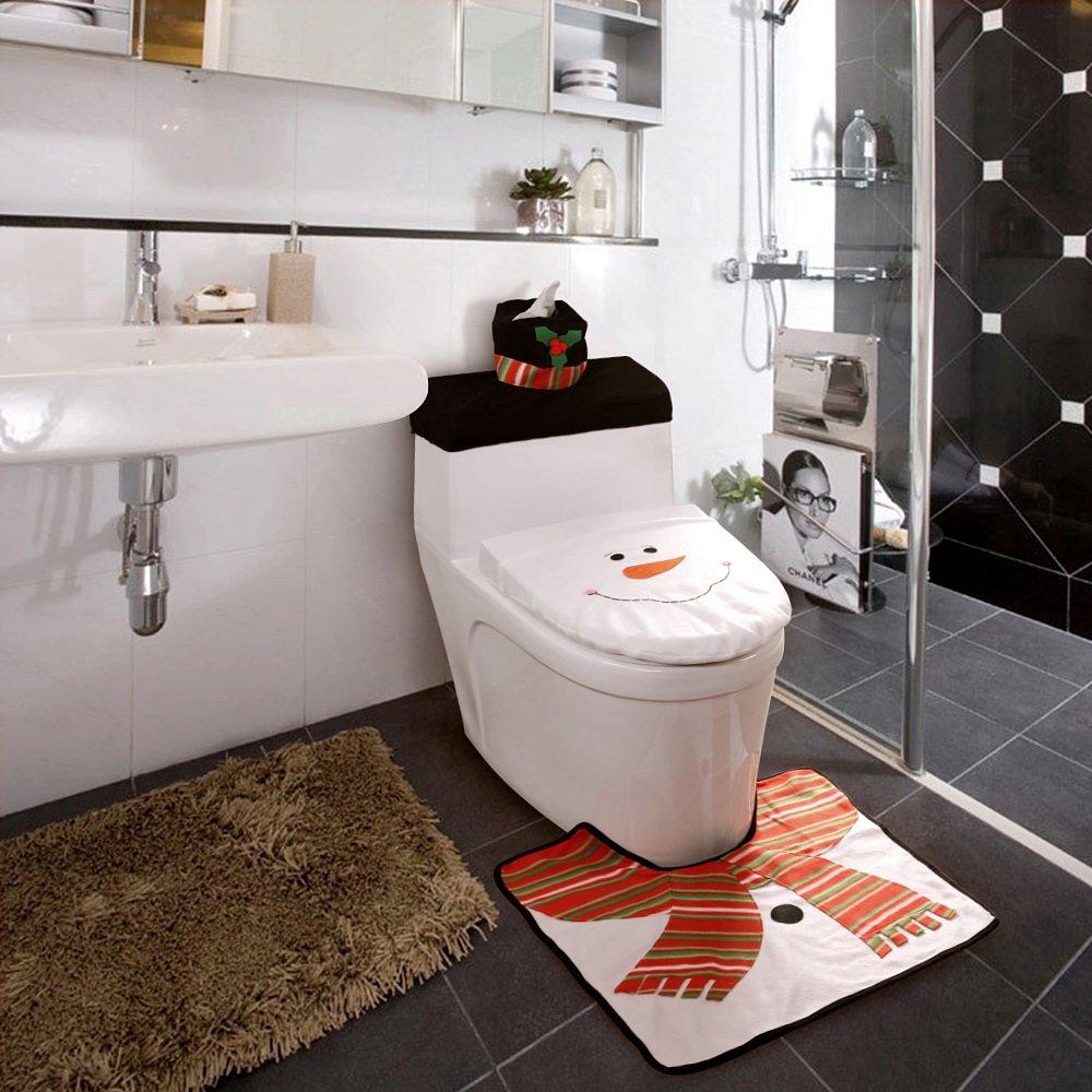 snowman bathroom sets. Snowman Toilet Seat Cover Sets Shower Curtain  Comfy Christmas