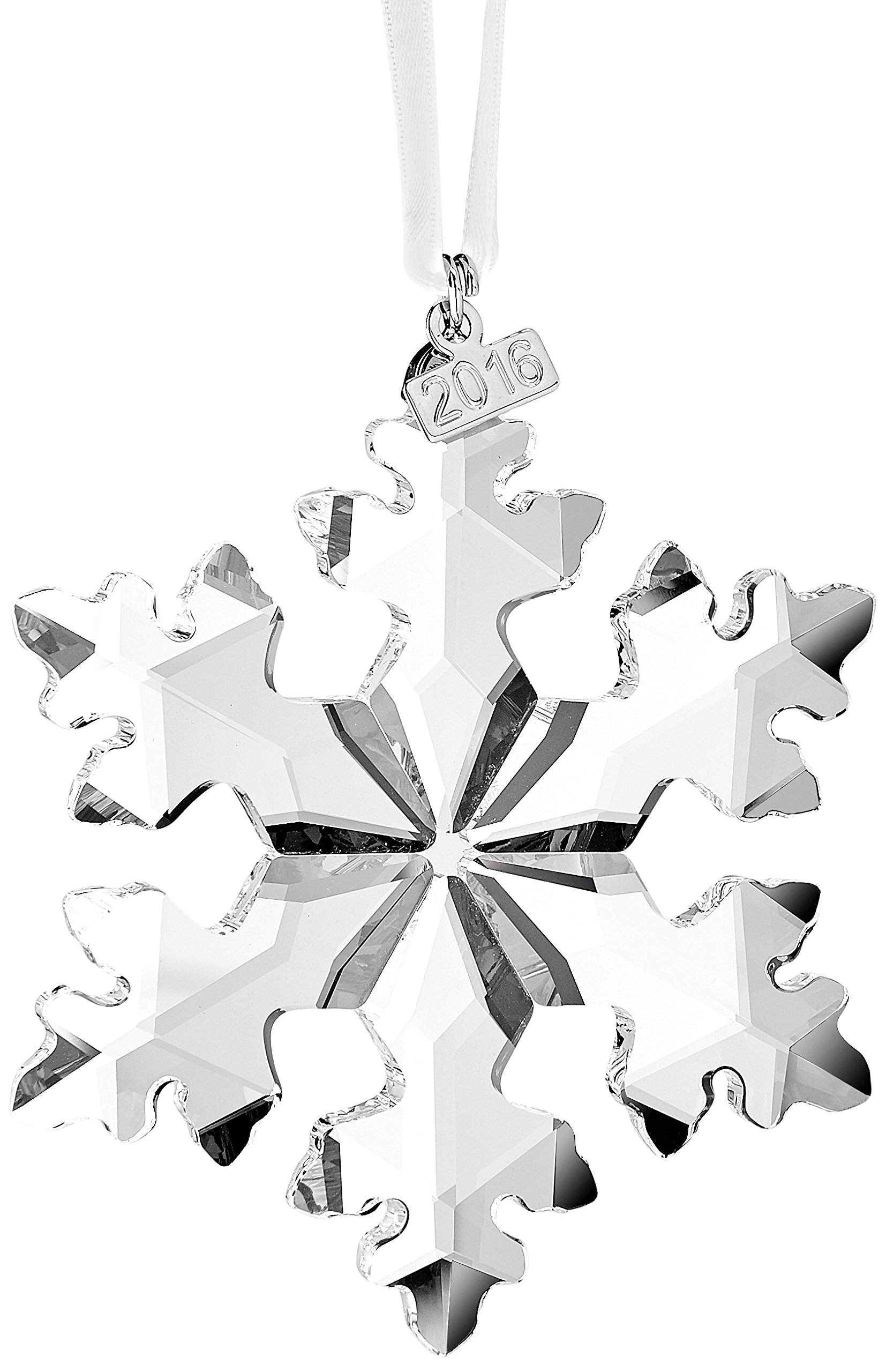 Christmas ornament black and white 187 home design 2017 - This Year S Latest 2016 Annual Swarovski Christmas Ornament Is An Authentic Sparkling Clear Crystal Design With A Metal Tag That Features The Issued Year