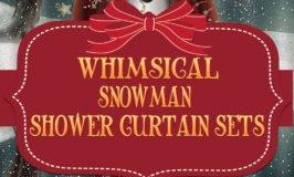 Snowman Shower Curtain Sets