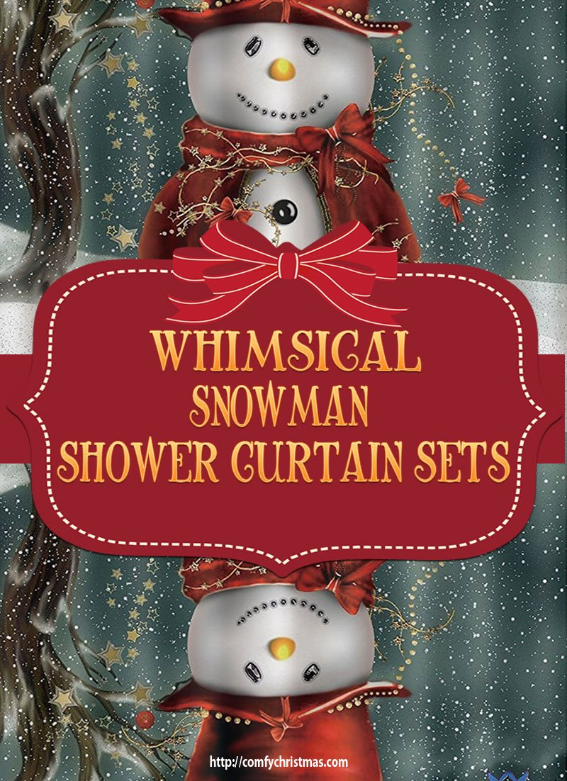 Snowman Shower Curtain Sets