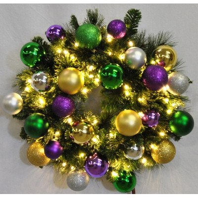 Mardi Gras Themed Christmas Ornament Wreaths - Mardi Gras Christmas Ornaments €� Comfy Christmas
