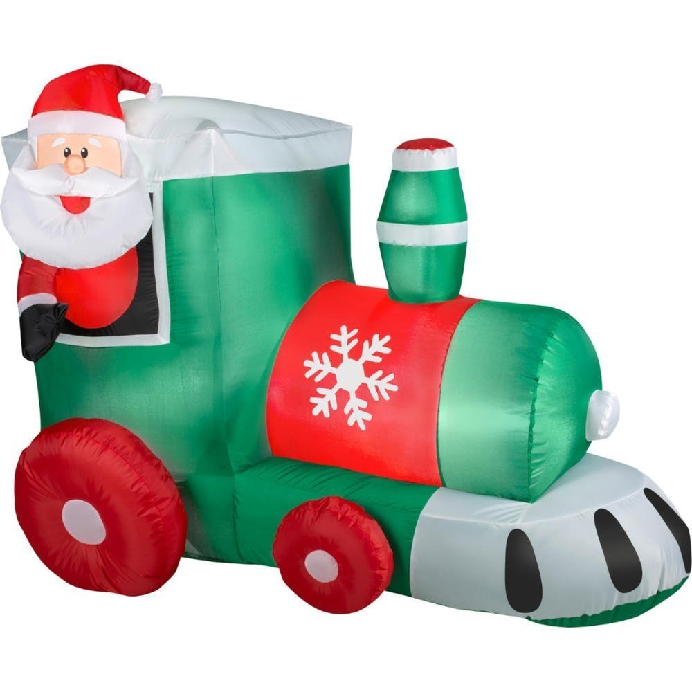 Christmas inflatable train perfect for your