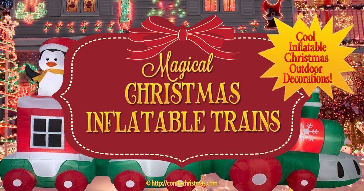 christmas inflatable train perfect for your christmas outdoor yard display