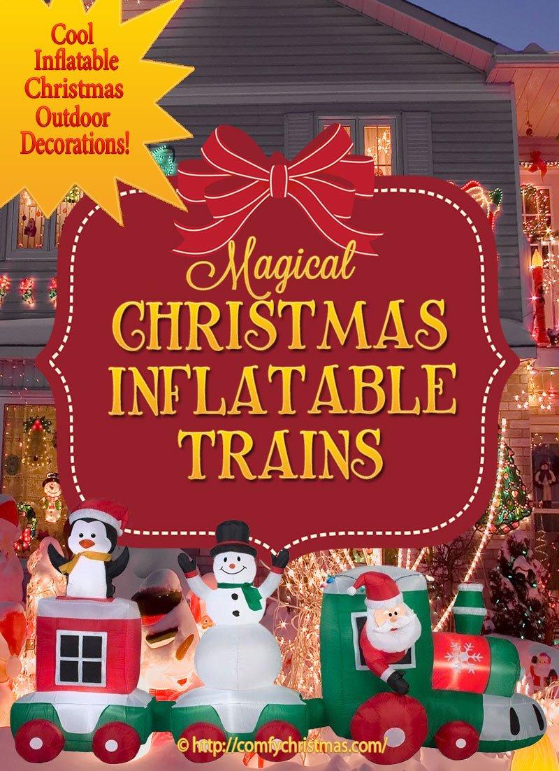 christmas inflatable train