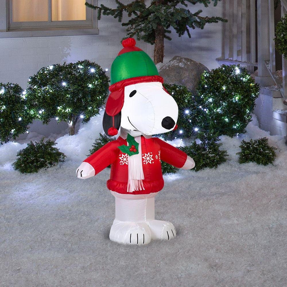 more snoopy inflatable christmas yard decorations