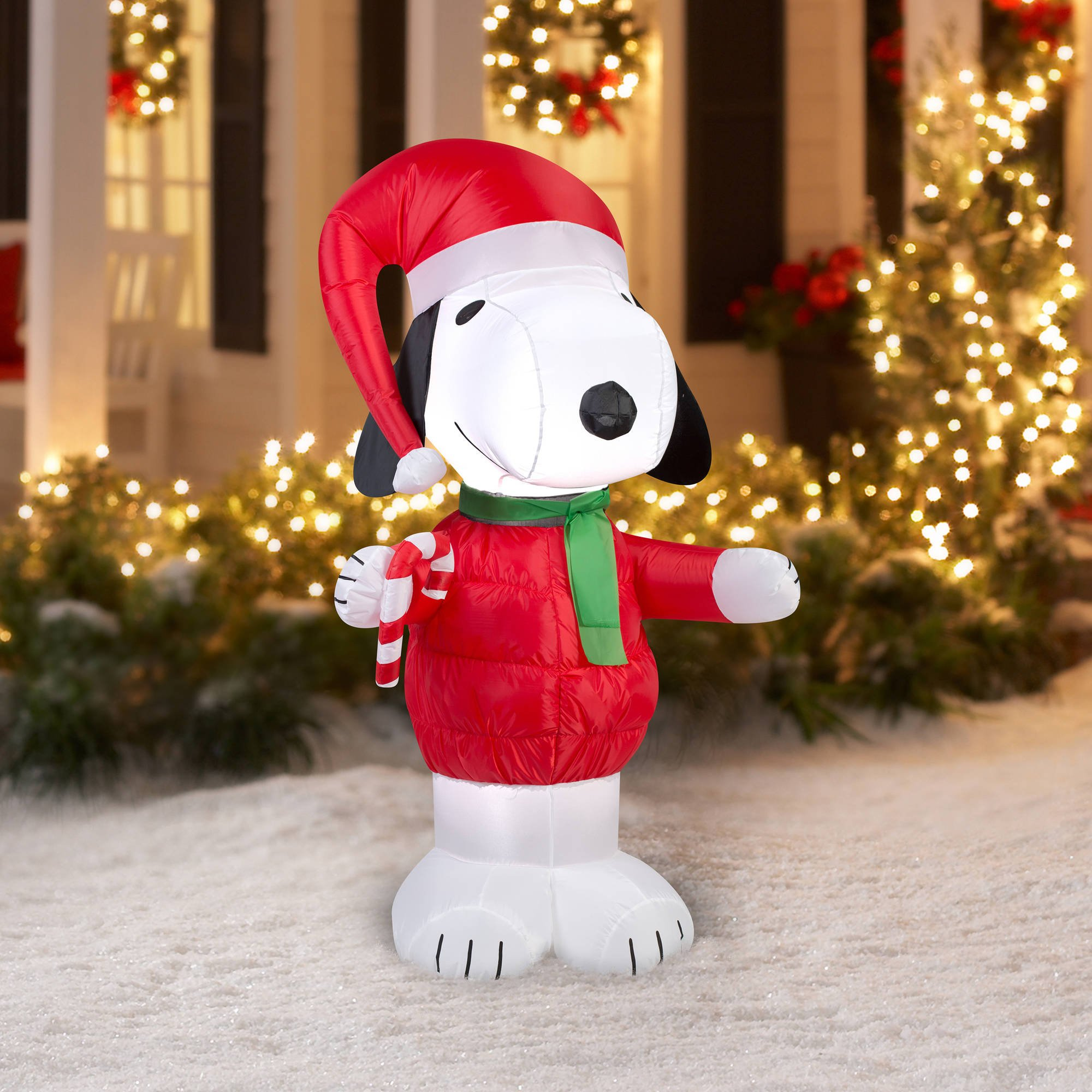 snoopy inflatable christmas yard decorations - Christmas Yard Decorations