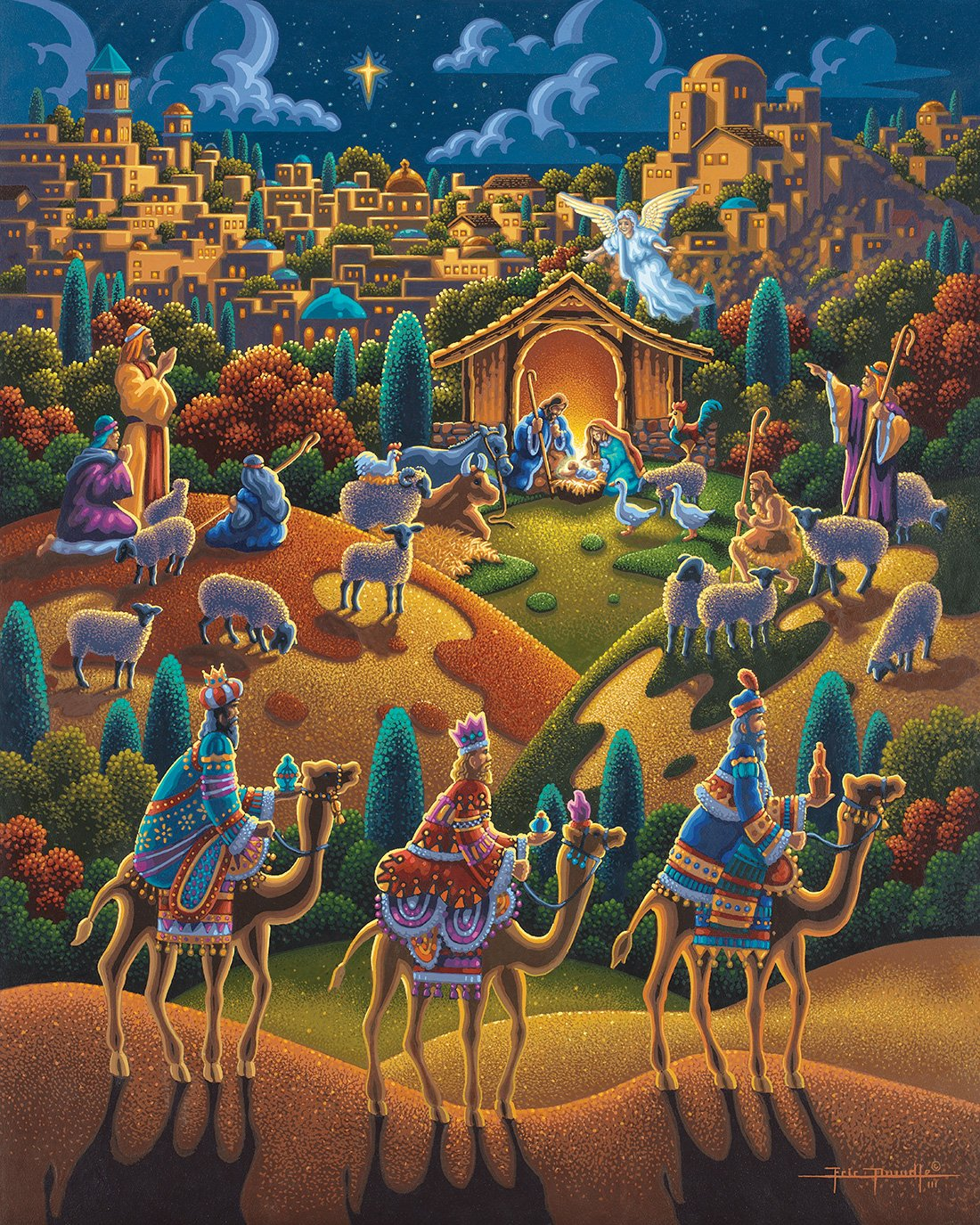 Eric Dowdle Christmas Puzzles Gorgeous Folk Art Jigsaw