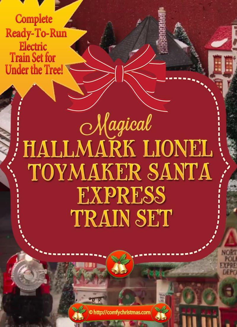 Hallmark Lionel Train Set Toymaker Santa Express Ready