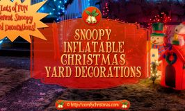 Snoopy Inflatable Christmas Yard Decorations