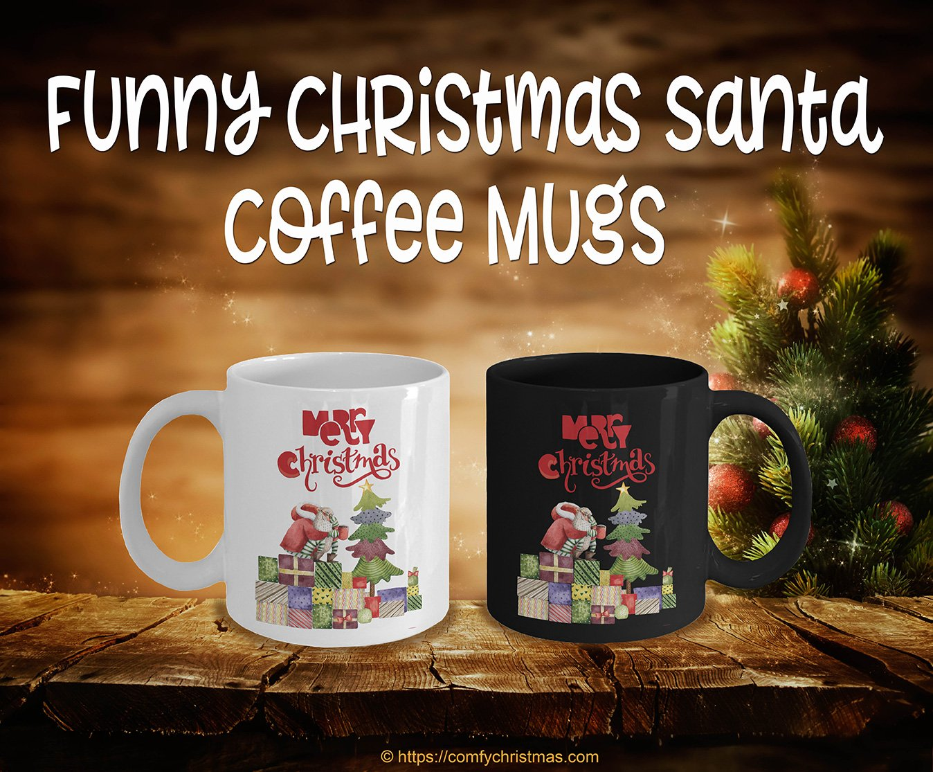 Funny Christmas Santa Coffee Mugs